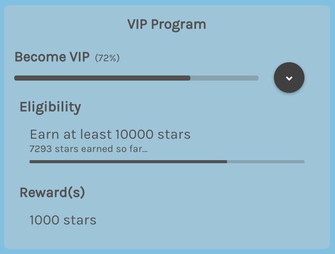 VIP Tier progress